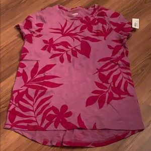 4/$35 Old navy girls size L floral softest tee new